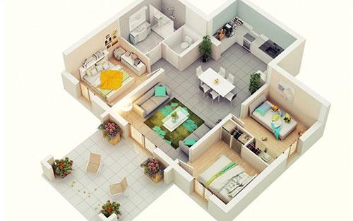 1 Kitchen 3 Bathroom & Above